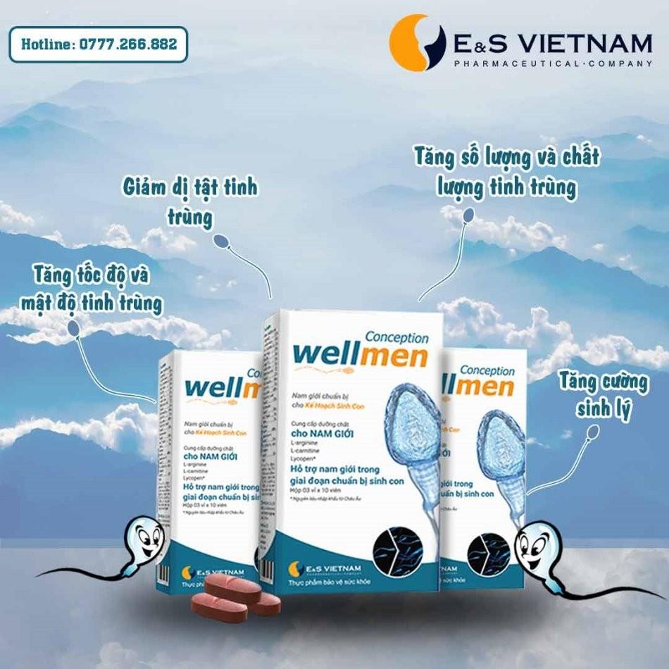 Tác dụng của Wellmen Bổ tinh trùng